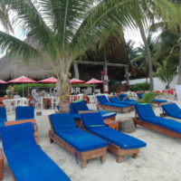 Deck Chairs at Beach Club Isla Mujeres