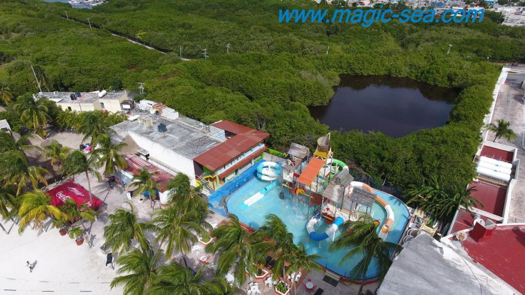 Water slides at Beach Club Isla Mujeres