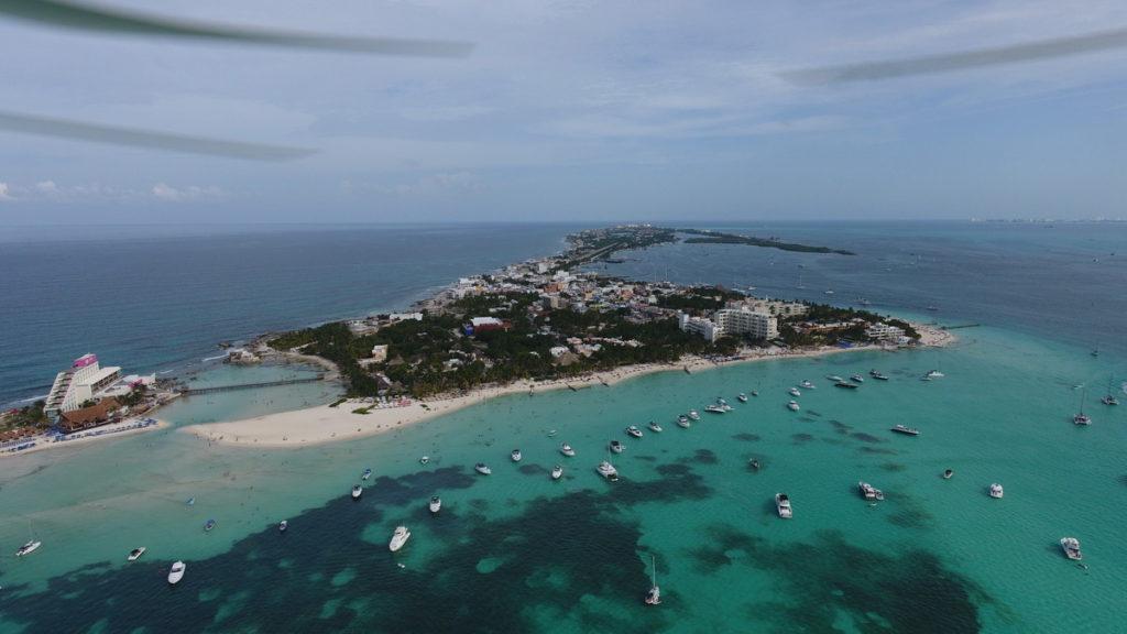 Isla Mujeres Playa Norte aereal